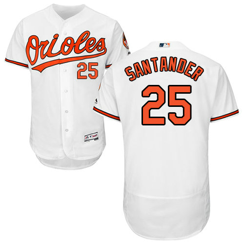Baltimore Orioles 25 Anthony Santander White Flexbase Authentic Collection Stitched Baseball Jersey