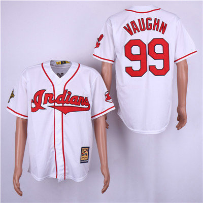 2814a9a44cc ... sweden cleveland indians 99 ricky vaughn white cooperstown collection  jersey 71d7a 3662d