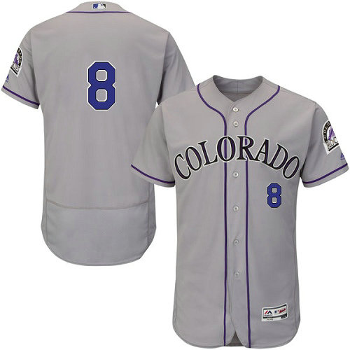 Colorado Rockies 8 Gerardo Parra Grey Flexbase Authentic Collection Stitched Baseball Jersey