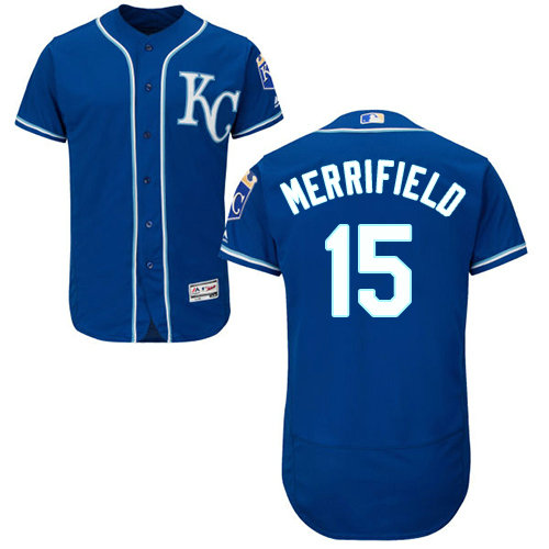 Kansas City Royals 15 Whit Merrifield Royal Blue Flexbase Authentic Collection Stitched Baseball Jersey