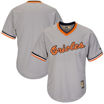 Men's Baltimore Orioles Majestic Blank Gray Cooperstown Cool Base Team Jersey