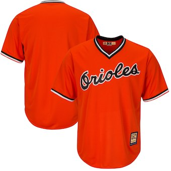 Men's Baltimore Orioles Majestic Blank Orange Alternate Big & Tall Cooperstown Cool Base Team Jersey