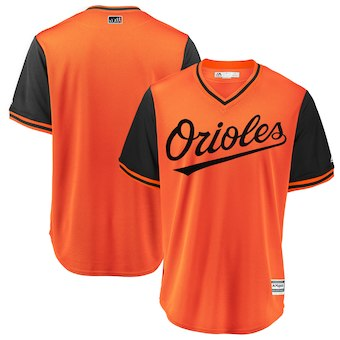Men's Baltimore Orioles Blank Majestic Orange 2018 Players' Weekend Team Jersey