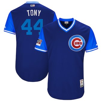 Men's Chicago Cubs 44 Anthony Rizzo Tony Majestic Royal 2018 Players' Weekend Authentic Jersey