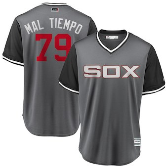 Men's Chicago White Sox 79 Jose Abreu Mal Tiempo Majestic Gray 2018 Players' Weekend Cool Base Jersey