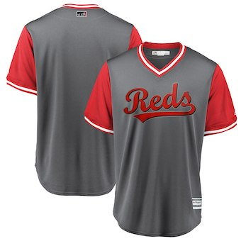 Men's Cincinnati Reds Blank Majestic Gray 2018 Players' Weekend Team Jersey