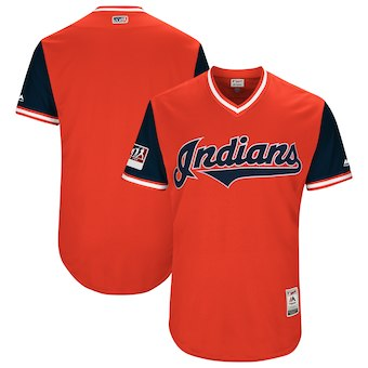 Men's Cleveland Indians Blank Orange 2018 Players' Weekend Authentic Team Jersey