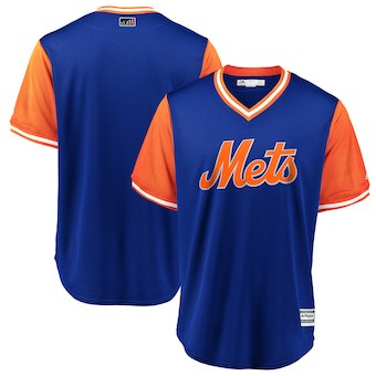Men's New York Mets Blank Majestic Royal 2018 Players' Weekend Team Cool Base Jersey