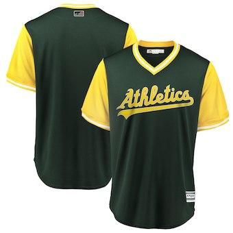 Men's Oakland Athletics Blank Majestic Green 2018 Players' Weekend Team Jersey