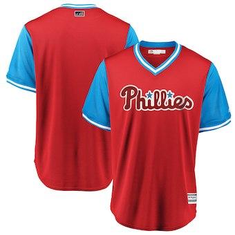 Men's Philadelphia Phillies Blank Majestic Scarlet 2018 Players' Weekend Team Cool Base Jersey