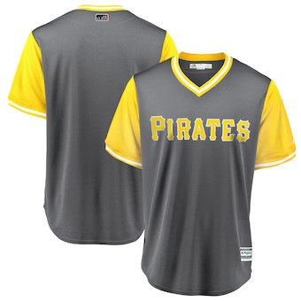 Men's Pittsburgh Pirates Blank Majestic Gray 2018 Players' Weekend Team Cool Base Jersey