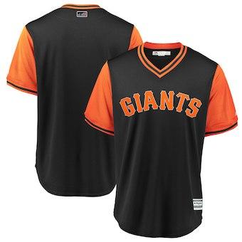 Men's San Francisco Giants Blank Majestic Black 2018 Players' Weekend Team Jersey