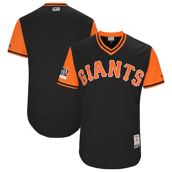 Men's San Francisco Giants Blank Majestic Black 2018 Players' Weekend Authentic Team Jersey