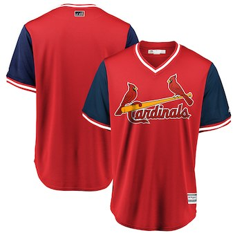 Men's St. Louis Cardinals Blank Majestic Red 2018 Players' Weekend Team Cool Base Jersey