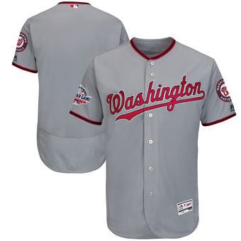 Men's Washington Nationals Majestic Blank Gray 2018 All-Star Game Road Flex Base Team Jersey
