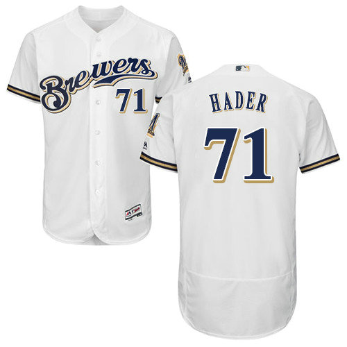 Milwaukee Brewers 71 Josh Hader White Flexbase Authentic Collection Stitched Baseball Jersey