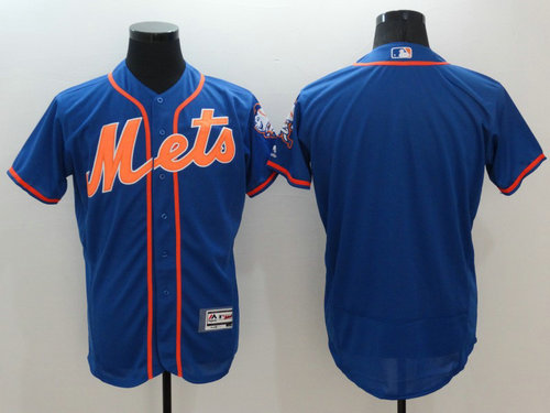 New York Mets Blank Blue Flexbase Authentic Collection Baseball Jersey