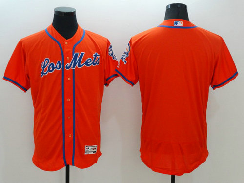 New York Mets Blank Orange Flexbase Authentic Collection MLB Jersey