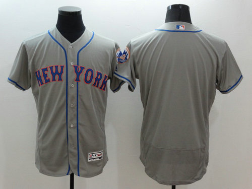 New York Mets Blank Grey Flexbase Authentic Collection Baseball Jersey