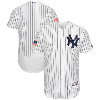 super popular faf8d fca7f New York Yankees Majestic Blank White 2018 Stars & Stripes ...