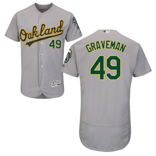 Oakland Athletics 49 Kendall Graveman Grey Flexbase Authentic Collection Stitched Baseball Jersey