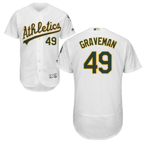 Oakland Athletics 49 Kendall Graveman White Flexbase Authentic Collection Stitched Baseball Jersey