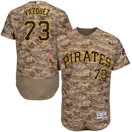 Pittsburgh Pirates 73 Felipe Vazquez Camo Flexbase Authentic Collection Stitched Baseball Jersey