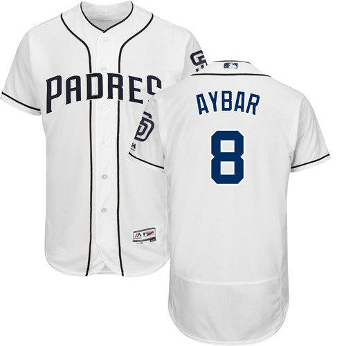 San Diego Padres 8 Erick Aybar White Flexbase Authentic Collection Stitched Baseball Jersey