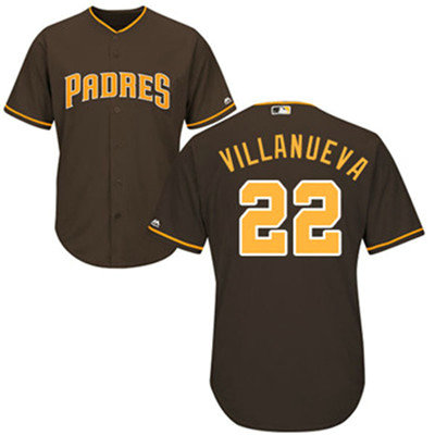 San Diego Padres 22 Christian Villanueva Brown New Cool Base Stitched Baseball Jersey
