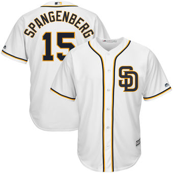 San Diego Padres 15 Cory Spangenberg Majestic White Alternate Cool Base Player Jersey