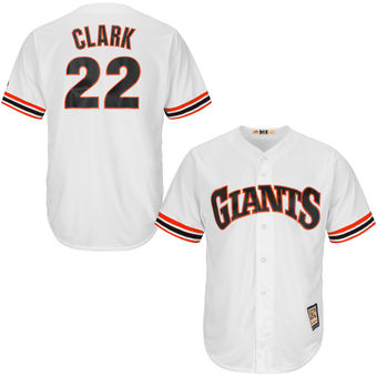 San Francisco Giants 22 Will Clark Majestic White Home Cool Base Cooperstown Collection Player Jersey