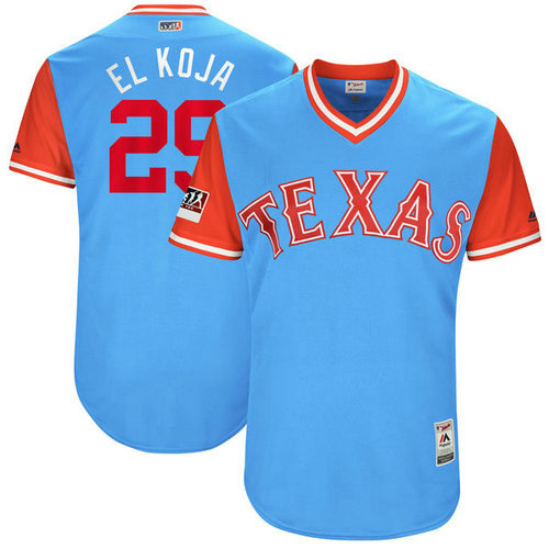 Texas Rangers 29 Adrian Beltre El Koja Majestic Light Blue 2018 Players Weekend Authentic Jersey
