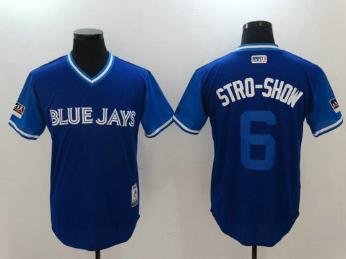 Toronto Blue Jays 6 Marcus Stroman Stro-Show Majestic Royal 2018 Players Weekend Authentic Jersey