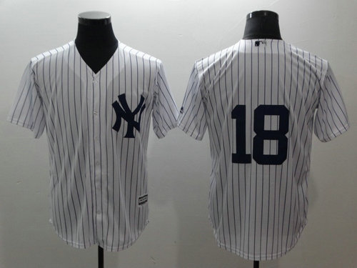 Yankees 18 Didi Gregorius White Cool Base MLB Jersey