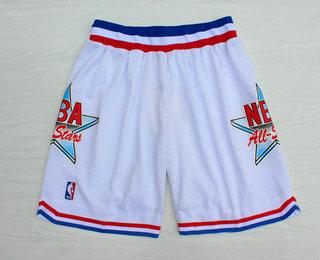 1992 All-Star White Hardwood Classics Swingman Shorts