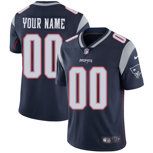 Youth Nike New England Patriots Home Navy Blue Customized Vapor Untouchable Limited NFL Jersey