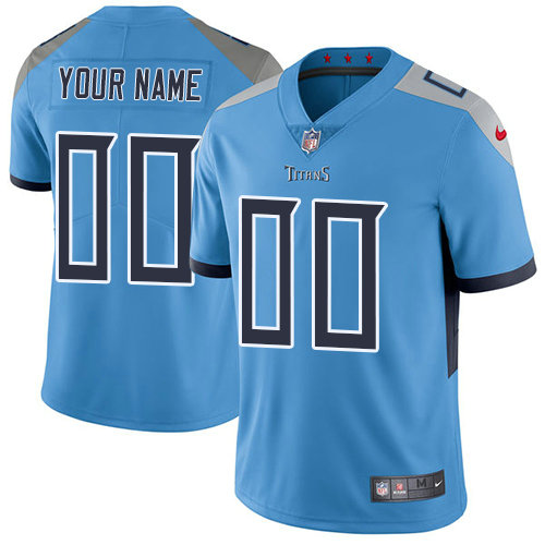 Youth Nike Tennessee Titans Light Blue Alternate Customized Vapor Untouchable Limited NFL Jersey