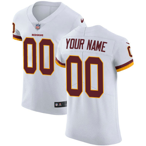 Men's Nike Washington Redskins Customized White Vapor Untouchable Elite Player NFL Jersey