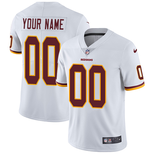 Men's Nike Washington Redskins Road White Customized Vapor Untouchable Limited NFL Jersey