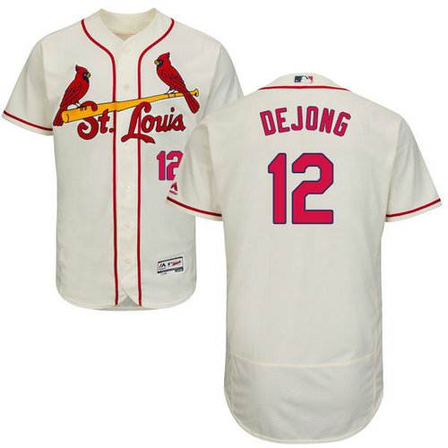 St.Louis Cardinals #12 Paul DeJong Cream Flexbase Authentic Collection Stitched Baseball Jersey