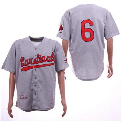 St.Louis Cardinals #6 Stan Musial Gray 1956 Cooperstown Collection Jersey