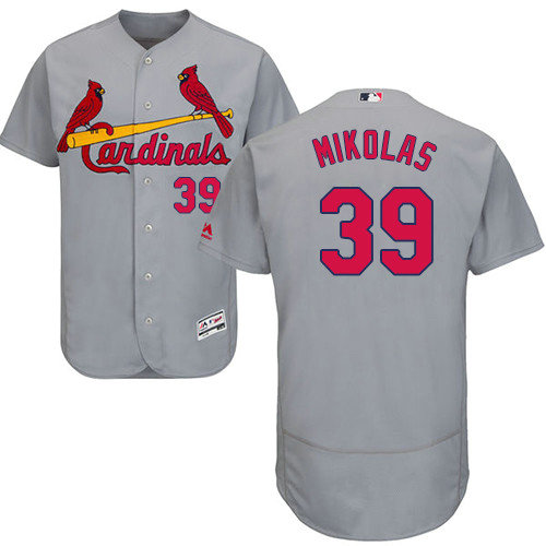 St.Louis Cardinals #39 Miles Mikolas Grey Flexbase Authentic Collection Stitched Baseball Jersey