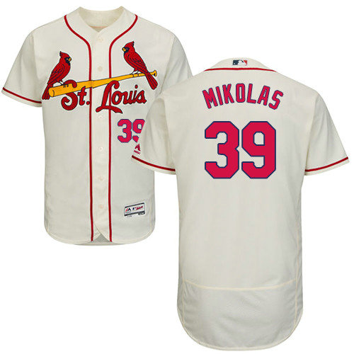 St.Louis Cardinals #39 Miles Mikolas Cream Flexbase Authentic Collection Stitched Baseball Jersey