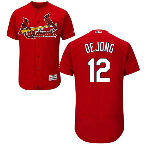 St.Louis Cardinals #12 Paul DeJong Red Flexbase Authentic Collection Stitched Baseball Jersey