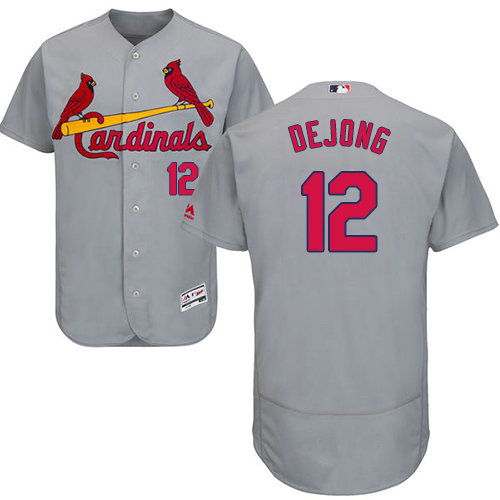 St.Louis Cardinals #12 Paul DeJong Grey Flexbase Authentic Collection Stitched Baseball Jersey