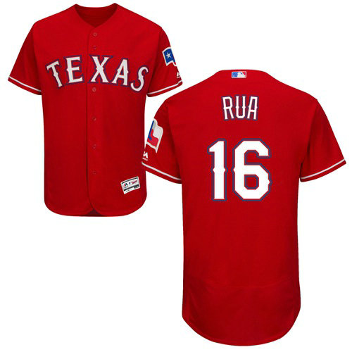 Texas Rangers #16 Ryan Rua Red Flexbase Authentic Collection Stitched Baseball Jersey