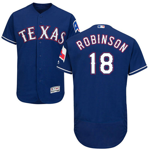 Texas Rangers #18 Drew Robinson Blue Flexbase Authentic Collection Stitched Baseball Jersey