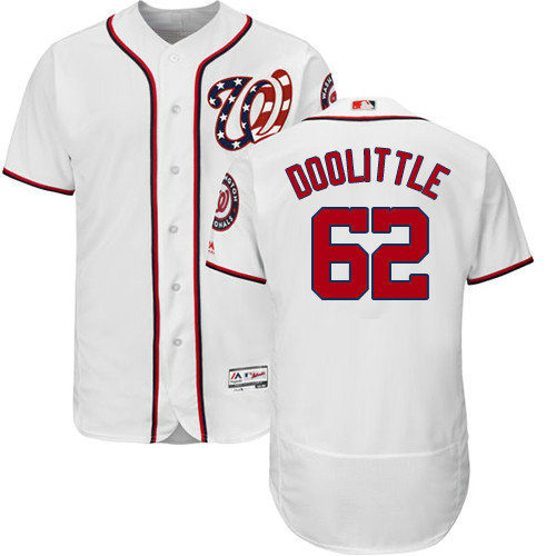 Washington Nationals #62 Sean Doolittle White Flexbase Authentic Collection Stitched Baseball Jersey