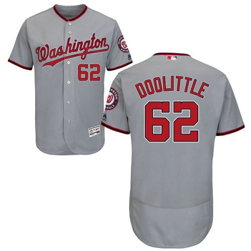 Washington Nationals #62 Sean Doolittle Grey Flexbase Authentic Collection Stitched Baseball Jersey