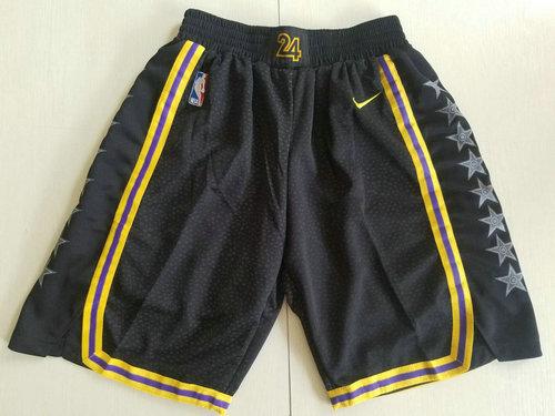 Men Nike Los Angeles Lakers Black NBA Swingman City Edition Shorts